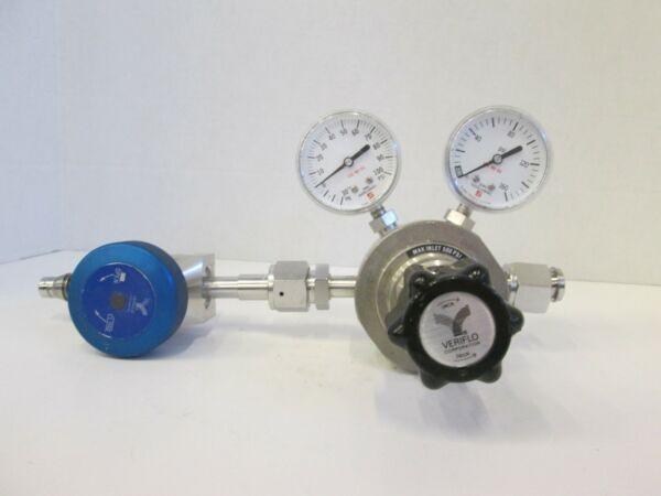 Veriflo Gas Stick Assy w/ HFRQ Regulator, 437 High Flow Valves, Gauges