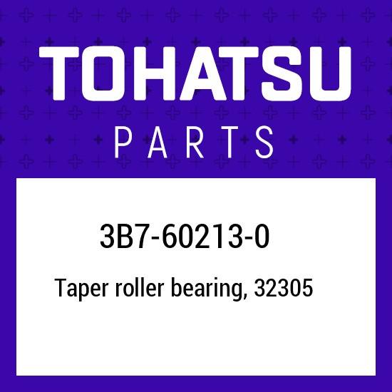 3B7-60213-0 Tohatsu Tapered roller bearing 3B7602130, New Genuine OEM Part