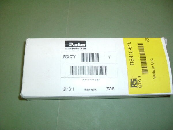 PARKER ........................B4U6000XXF VALVE RS PART NO 410 618  NEW PACKAGED