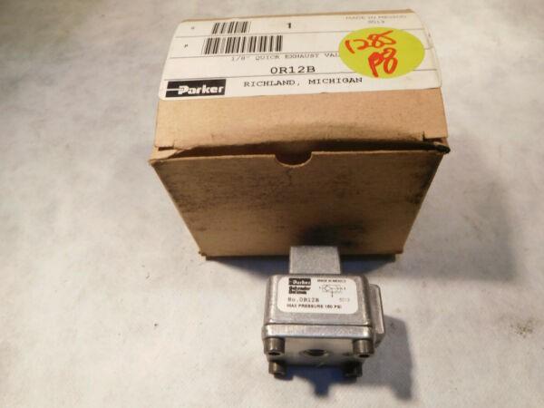 Parker Schrader Bellows OR12B Quick Exhaust Valve 1/8