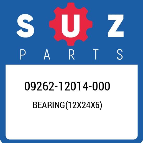 09262-12014-000 Suzuki Bearing(12x24x6) 0926212014000, New Genuine OEM Part