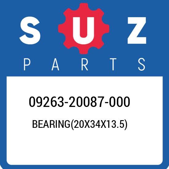 09263-20087-000 Suzuki Bearing(20x34x13.5) 0926320087000, New Genuine OEM Part