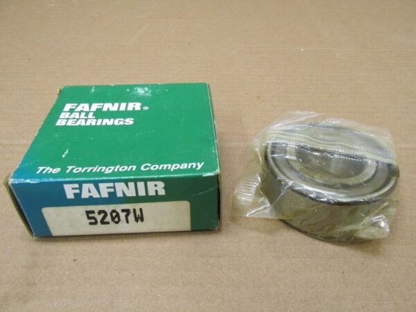 NIB FAFNIR 5207W ANGULAR CONTACT BEARING 5207 W 35x72x27 mm 1-1/16