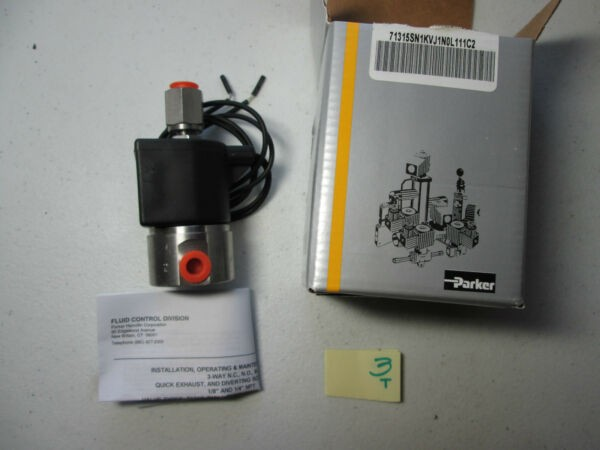NEW IN BOX PARKER SOLENOID VALVE 71315SN1KVJ1N0L111C2 24VDC 150F 65C  (O3)