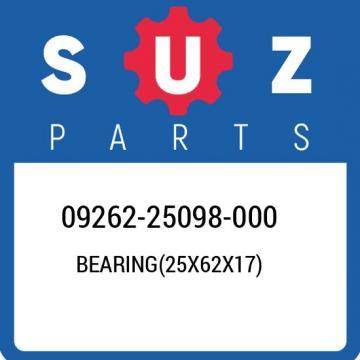 09262-25098-000 Suzuki Bearing(25x62x17) 0926225098000, New Genuine OEM Part