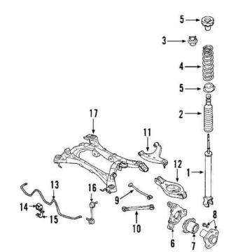 43210AL505 Nissan Bearing-rear axle, inner 43210AL505, New Genuine OEM Part