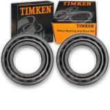 Timken Rear Wheel Bearing & Race Set for 1975-1988 Ford E-250 Econoline Pair et